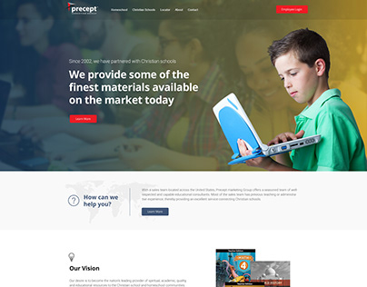 Precept Marketing Site - Before and After