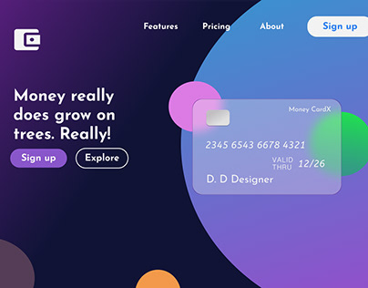 Money CardX - Landing Page