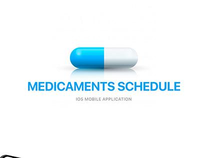 Medicaments schedule / Medicine ios mobile application
