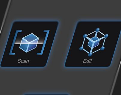 3D Modelling Program Icons