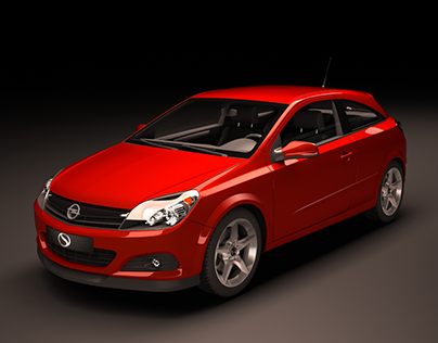 Opel Astra 3D Render