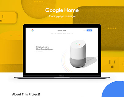 Google Home Landing page Redesign