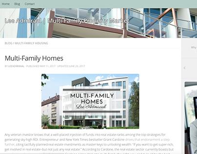 Multi Family Home Header Design