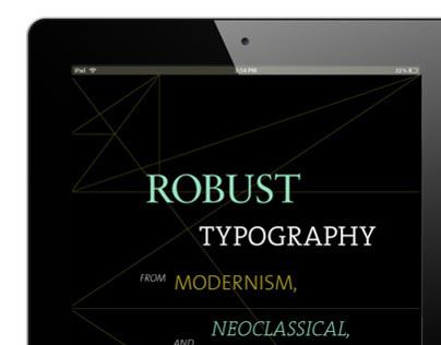 Robust Typography Book & iPad