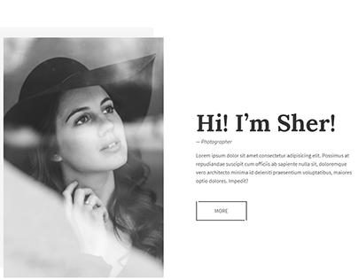 Sher - Responsive Portfolio Website Template $85