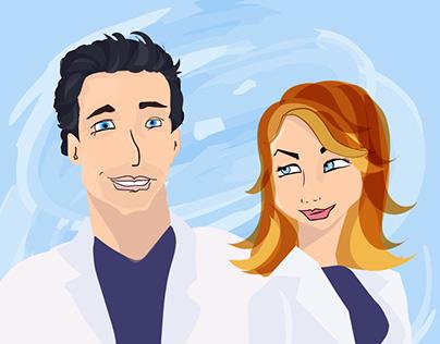 Grey's Anatomy Digital Illustration
