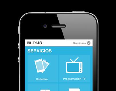 Servicios El País versión móvil
