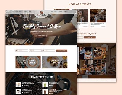 Classy Cafe Web Mock Up Design