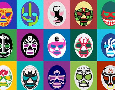 225 wrestling masks
