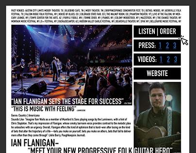 Ian Flanigan EPK - Adobe Indesign