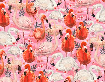 Flamingo pattern - V1