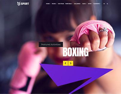 Sport WordPress Theme - Boxing Slider