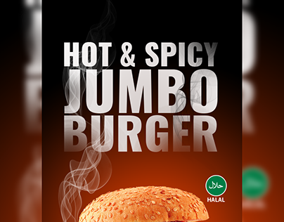 Burger Product Ad for Restaurent Free PSD