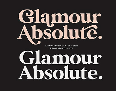 Glamour Absolute Modern Font