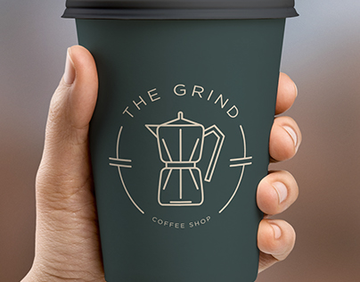 The Grind Coffee Shop // Logo and Branding