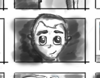 Storyboard draft for a video proposal