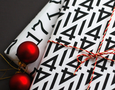 Typography gift wrap paper