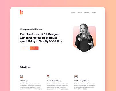 Kristina.Marketing Redesign, a Freelance UX/UI Designer
