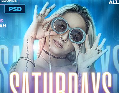 Night Club Party Flyer - Photoshop PSD