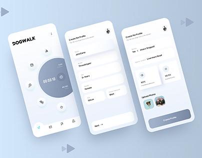 Dog Walker App UI/UX Concept