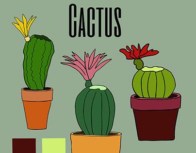 Dessin vectoriel cactus