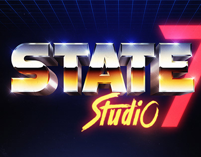 STATE7   80s Chrome Logo Recreation