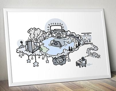 Sea Dream - Ink to Digital Print