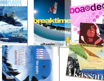 GPS Snowboarder Magazine Design