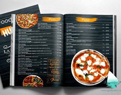 Menu graphic design for Trattoria Restaurant.