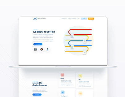 Alpha Academy - Website Design