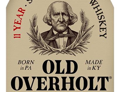 Old Overholt Whiskey Label Illustrated by Steven Noble