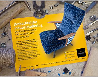 Advertentie voor Swawek, ambachtelijke meubelstoffering