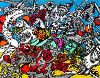 Utopia Pu 2015  20x30 paper, pen ✒, watercolor pencil
