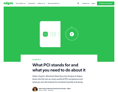 Blog Post: PCI Compliance | Adyen