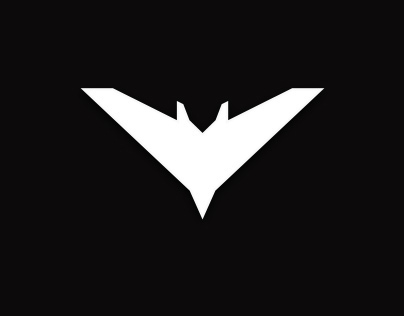 The Dark Night Rises Batman Chalk Logo