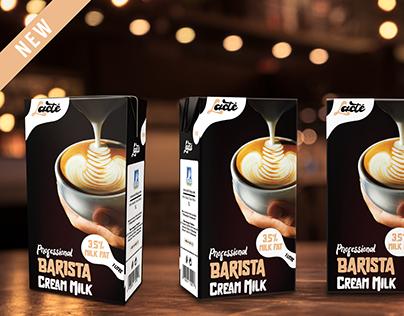 Lacté/Barista Cream Milk - Package & Logo Design