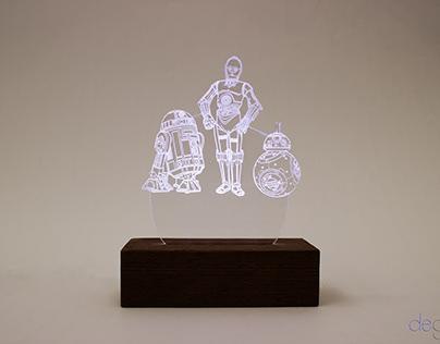 luminaria acrilica