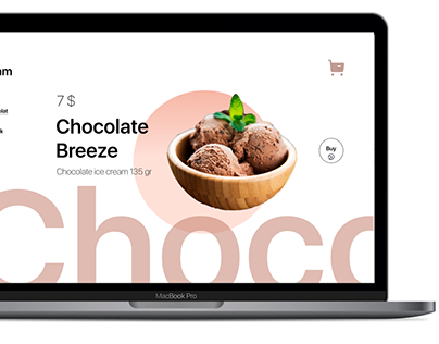 Design of a website for the sale of ice cream