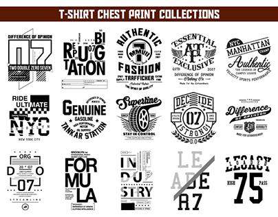 T-SHIRT-CHEST PRINTS