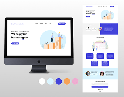Small Business Mentor - Homepage Redesign