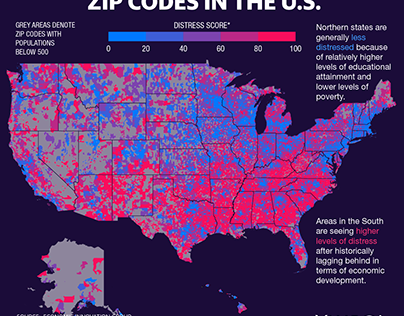 The Least and Most Distressed Zip Codes in the U.S.