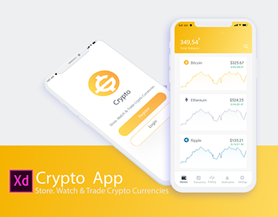 Crypto App UI/UX Design & Animation