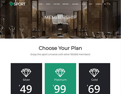 Membership - Sport WordPress Theme