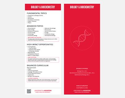 NSM Undergraduate Department One-Sheets