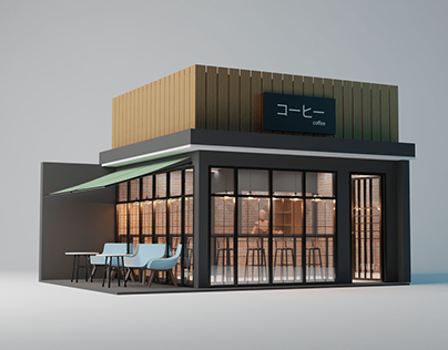 Minimalist Coffee Shop Design