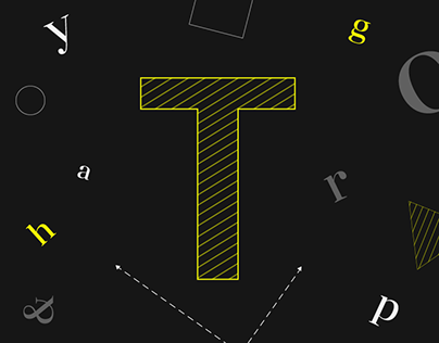 Landing page about Typography