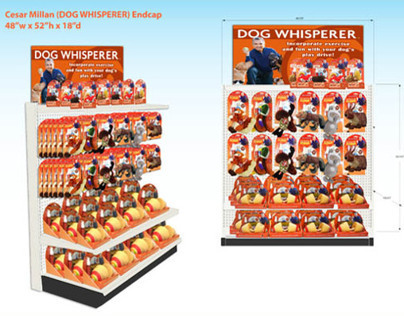 "Cesar Millan ""Dog Whisperer"" Endcap Display"