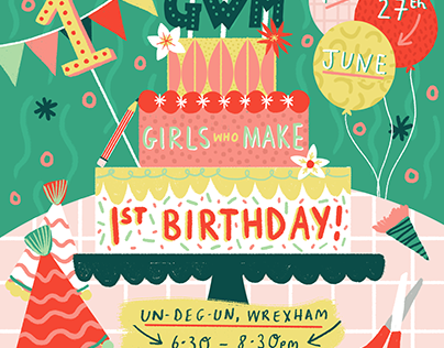 Girls Who Make: First Birthday Party- June!