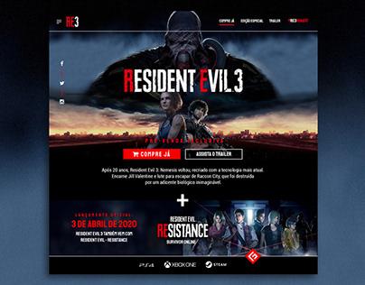 Hotsite - Resident Evil 3