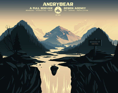 Angry Bear Site Illustration & Design